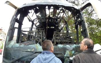 Λεωφορείο του ΚΤΕΛ Φλώρινας τυλίχθηκε στις φλόγες