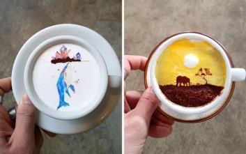 Κορεάτης μετατρέπει τους καφέδες σε πραγματικά έργα τέχνης