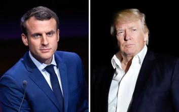 Διαβεβαίωση Μακρόν σε Τραμπ πως θα υπεραμυνθεί της «Συμφωνίας των Παρισίων»