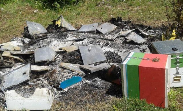 Άγνωστοι έκαψαν μελίσσια στη Φωκίδα