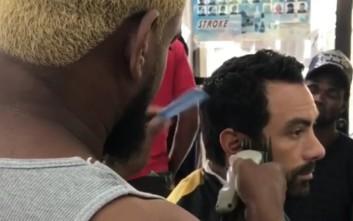 Ο Τανιμανίδης αφέθηκε στα χέρια του «κορυφαίου» μπαρμπέρη της Καραϊβικής