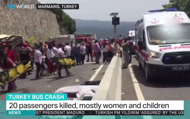 Τρομακτικές εικόνες από πολύνεκρο δυστύχημα στη Μαρμαρίδα