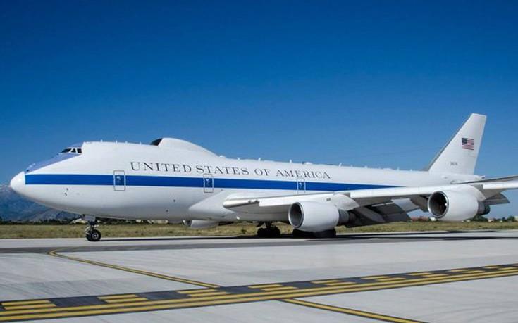 Στα Χανιά το Boeing 747 του Εθνικού Κέντρου Επιχειρήσεων των ΗΠΑ