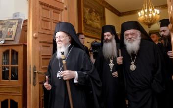 Στον Αρχιεπίσκοπο Ιερώνυμο ο Οικουμενικός Πατριάρχης Βαρθολομαίος