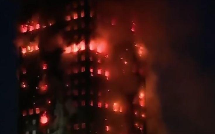 Φόβοι για εγκλωβισμένους αλλά και για κατάρρευση του πύργου στο Λονδίνο