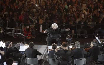 Αποθέωση για τον Μίκη Θεοδωράκη στην προς τιμήν του συναυλία στο Καλλιμάρμαρο