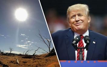 Κυβερνητική έκθεση «αδειάζει» τον Τραμπ για την κλιματική αλλαγή