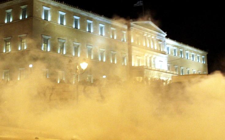 Η τελευταία εισβολή διαδηλωτών στην ελληνική βουλή