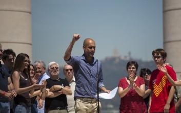 Μεγάλη διαδήλωση στη Βαρκελώνη για το δημοψήφισμα της ανεξαρτησίας