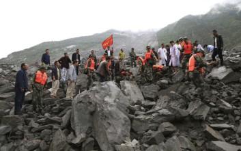 Πάνω από 100 οι αγνοούμενοι σε τεράστια κατολίσθηση στην Κίνα