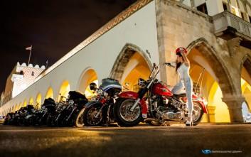 Η Ρόδος υποδέχθηκε τους «ιππότες» με τις Harley-Davidson