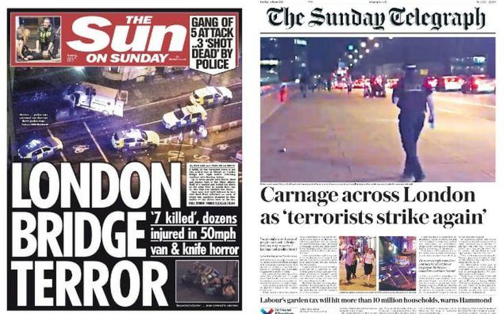 Η τραγωδία του Λονδίνου σε πρωτοσέλιδα βρετανικού και διεθνούς Τύπου