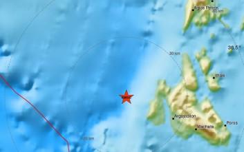 Σεισμός 3,9 Ρίχτερ ανοιχτά της Κεφαλονιάς