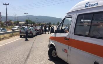 Σοβαρό τροχαίο με τραυματισμούς στην Εθνική Οδό  Αντιρρίου – Ιωαννίνων