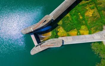 Το φράγμα του Πηνειού που δημιούργησε τη μεγαλύτερη λίμνη της Πελοποννήσου