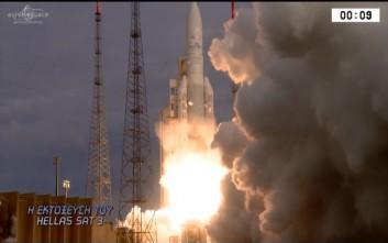 O δορυφόρος Hellas Sat 3 τοποθετήθηκε σε γεωστατική τροχιά