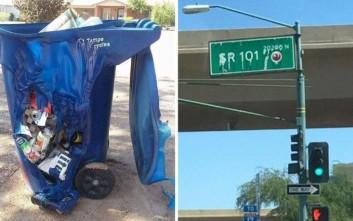 Η ζέστη λιώνει κάδους και πινακίδες στην Αριζόνα