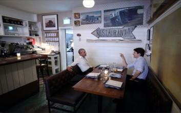 Τριντό και Ομπάμα δείπνησαν μαζί στο Μόντρεαλ