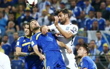 Έμεινε όρθια στη Ζένιτσα η Εθνική και πήρε το «χρυσό» 0-0 από τη Βοσνία