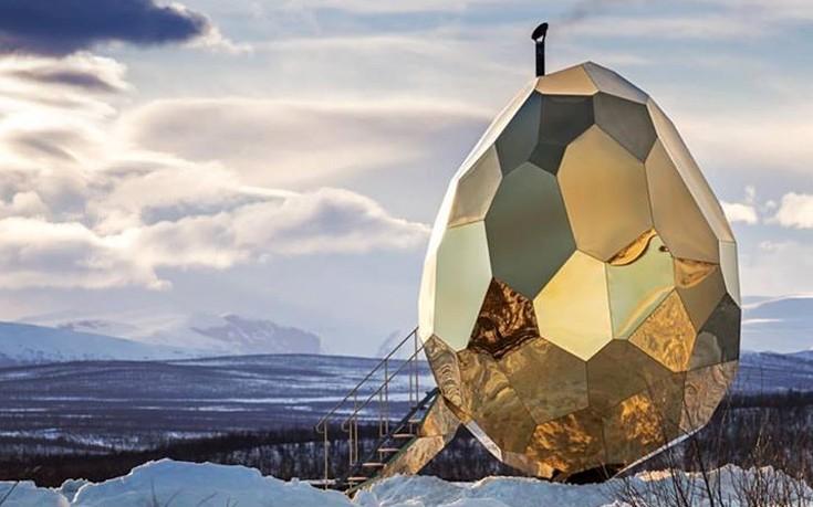 «Ηλιακό αβγό», μια σάουνα στη βορειότερη πόλη της Σουηδίας