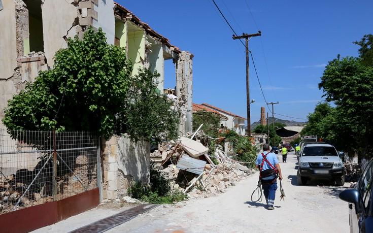 Πάνω από 1.200 κτίσματα έχουν ελεγχθεί στη Λέσβο