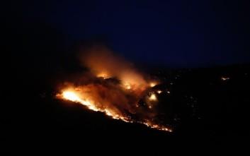 Σε εξέλιξη πυρκαγιές σε δύο μέτωπα στην Κεφαλονιά