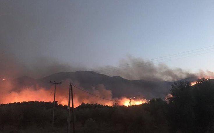 Ολονύχτια μάχη με τις φλόγες στο Λασίθι