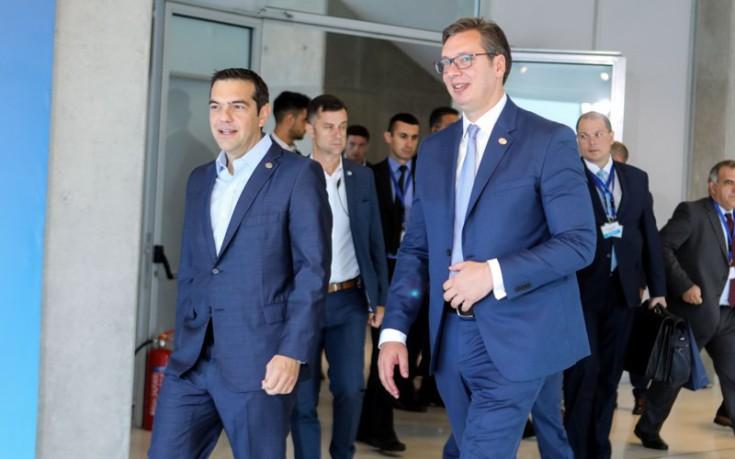 Τσίπρας σε Βούτσιτς: Ιστορικοί οι δεσμοί Ελλάδας-Σερβίας