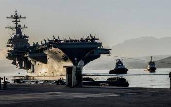Η εκδοχή του αμερικανικού αεροπλανοφόρου για το «επεισόδιο» με τα τουρκικά μαχητικά