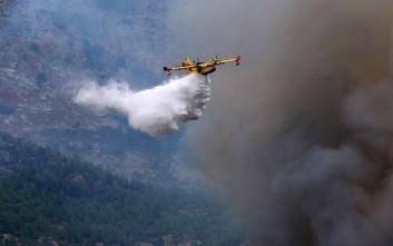 Μεγάλη φωτιά στην Εύβοια: Έφτασαν στην Ελλάδα τα δυο ιταλικά αεροσκάφη