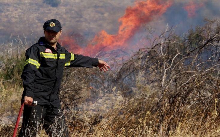 Υπό μερικό έλεγχο η πυρκαγιά στον Κουβαρά Αττικής
