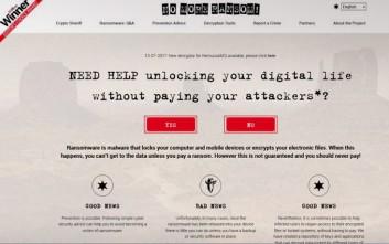 Στον «αέρα» ιστοσελίδα που στηρίζει χρήστες του διαδικτύου απέναντι σε ransomware