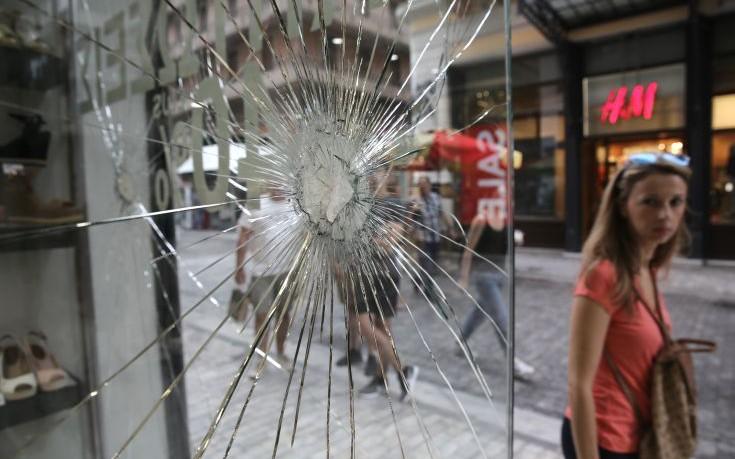 Αντιεξουσιαστές για καταστροφές στην Ερμού: Δεν υπάρχει ειρήνη χωρίς Δικαιοσύνη