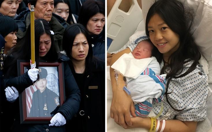 Γυναίκα γέννησε το παιδί του νεκρού συζύγου της