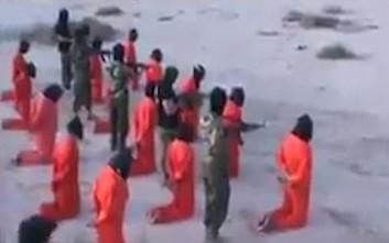 Βίντεο μαζικής εκτέλεσης φερόμενων τζιχαντιστών στη Λιβύη
