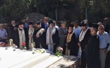 Μνημόσυνο για τον Κωνσταντίνο Μητσοτάκη στο κοιμητήριο του Αργολιδέ