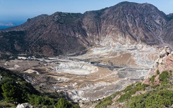 Νίσυρος, διακοπές πάνω στο ηφαίστειο