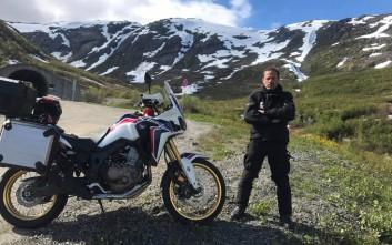 Ο Γιώργος Πυρπασόπουλος ταξίδεψε 3.570 χιλιόμετρα με μοτοσικλέτα