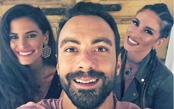 Ο Σάκης Τανιμανίδης και τα δύο πανέμορφα κορίτσια