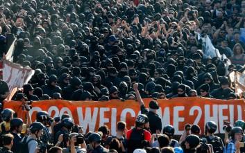 Συγκρούσεις στη μεγάλη διαδήλωση ενάντια στη G20 στο Αμβούργο