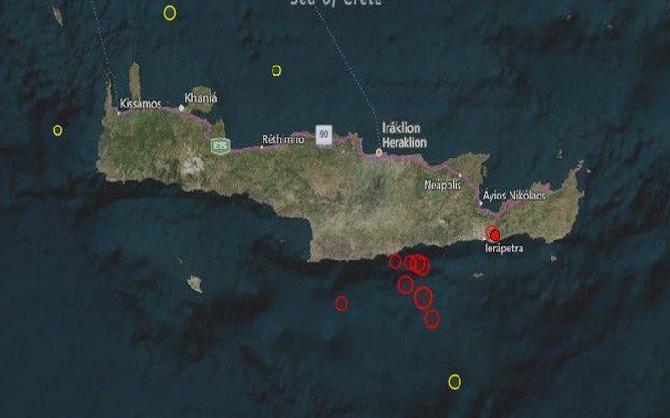 Δεν σταμάτησαν οι μετασεισμοί το βράδυ στην Κρήτη