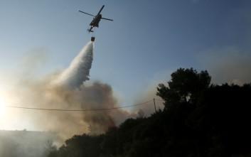 Εκπρόσωπος Πυροσβεστικής: Σε εξέλιξη το πύρινο μέτωπο στον Κάλαμο