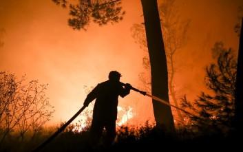 Μάχη για να μείνει μακριά από κοινότητες η πύρινη λαίλαπα, δίνει η πυροσβεστική