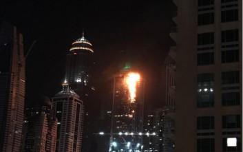 Πυρκαγιά σε ουρανοξύστη στο Ντουμπάι