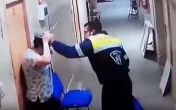 Σοκαριστικό βίντεο όπου άνδρας κλωτσά έγκυο γυναίκα στην κοιλιά