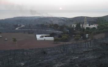 Αντιμετωπίστηκε η αναζωπύρωση της πυρκαγιάς στα Κύθηρα