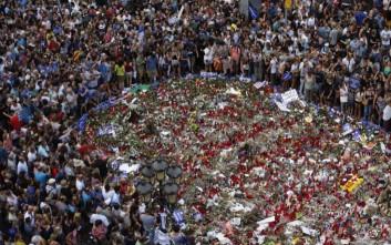 Μεγάλη διαδήλωση κατά της τρομοκρατίας στη Βαρκελώνη