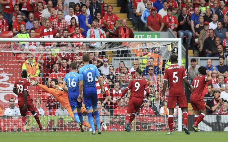 Η Λίβερπουλ διέλυσε με 4-0 την Αρσεναλ στο Άνφιλντ