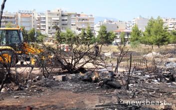 Εικόνες από την πυρκαγιά στο Γαλάτσι