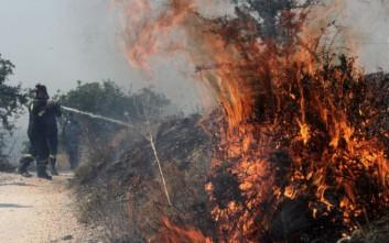 Στο Μικροχώρι συνεχίζεται η μάχη με τις φλόγες στην Αττική